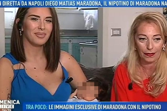Domenica Live, Nunzia Pennino allatta in diretta Diego Matias jr