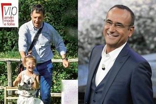 Stella, figlia di Fabrizio Frizzi, compie 5 anni: Carlo Conti le fa gli auguri in diretta a 'L'eredità'