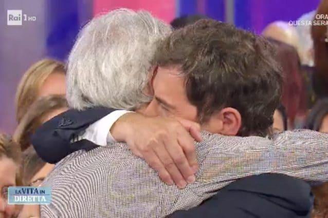 Le lacrime di Marco Liorni