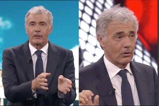 Massimo Giletti tradito dai capelli, dopo la mezzanotte si allungano nella parte registrata