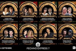 """""""Pechino Express 7"""", c'è Paola Caruso e gli ex Fatti Vostri Marcello Cirillo e Adriana Volpe"""