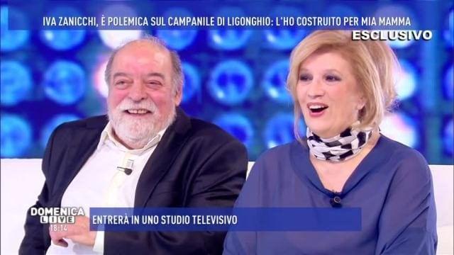Un'immagine di Iva Zanicchi con Fausto Pinna