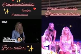 Valeria Marini e gli sponsor a Temptation Island Vip che suggeriscono la pace con Patrick Baldassari