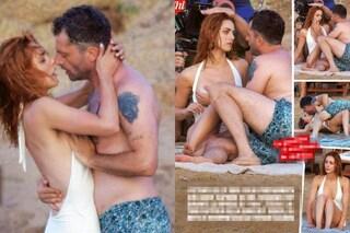 Miriam Leone, passione in spiaggia: baci hot e palpatine ma è solo una scena di '1994'