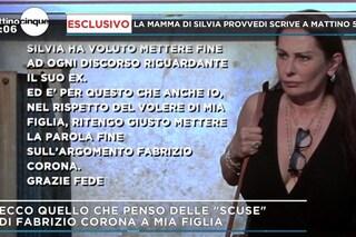 """La madre di Silvia Provvedi: """"Ha visto che Fabrizio Corona non sta bene, non parlerò più di lui"""""""