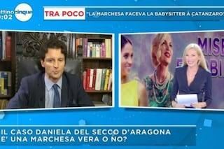 """""""Sono la conduttrice, non un'ospite"""" gaffe di Federica Panicucci sul caso della marchesa d'Aragona"""
