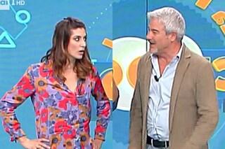 """Elisa Isoardi a Pino Insegno: """"Fammi Russell Crowe"""", lui: """"Quello è Luca Ward"""""""