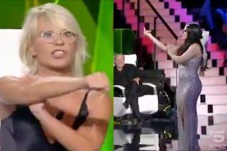 """A 'Tu sì que vales 2018' una concorrente fa il dito medio, Maria De Filippi furiosa: """"Fallo a me"""""""