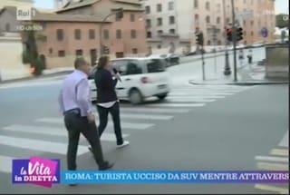 """Tiberio Timperi rimprovera l'inviata de La Vita in Diretta: """"Stai attraversando col rosso"""""""
