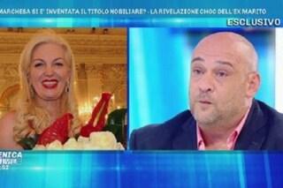 """L'ex marito di Daniela Del Secco D'Aragona: """"Non è Marchesa, in realtà è Baronessa"""""""