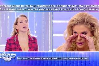 """Francesca Cipriani piange in diretta a 'Pomeriggio Cinque': """"Amo Walter Nudo, per me non è un gioco"""""""