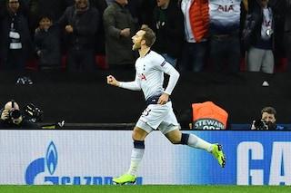 Il Tottenham batte l'Inter, gli ascolti tv volano