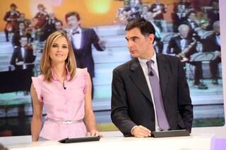 """Francesca Fialdini punzecchia Timperi: """"Che tinta è?"""", Tiberio: """"Non è tinta, sono capelli bianchi"""""""