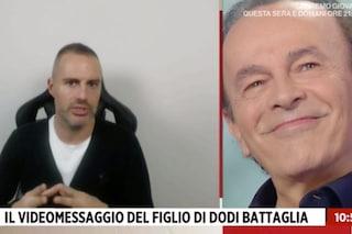 """Dodi Battaglia riceve un messaggio dal figlio Daniele e si emoziona: """"Gli voglio un gran bene"""""""