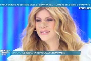 """Paola Caruso incinta sta male in diretta: """"Il padre di mio figlio corteggia Elena Morali e altre"""""""