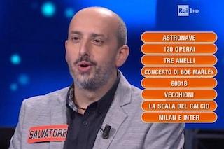 """""""Salvia ti amo"""" e """"Viva Napoli"""": l'ex campione de L'Eredità che urla quando non conosce la risposta"""