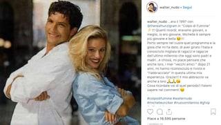 """""""Era il 1997 con Michelle Hunziker in Colpo di Fulmine"""", Walter Nudo infiamma i suoi fan"""