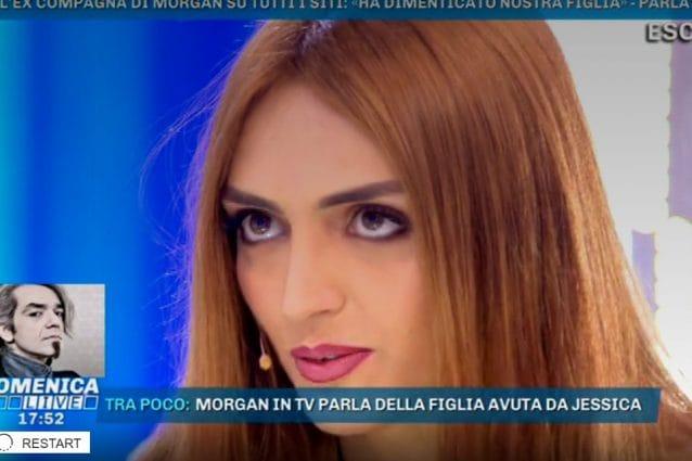 Domenica Live, Jessica Mazzoli contro Morgan: