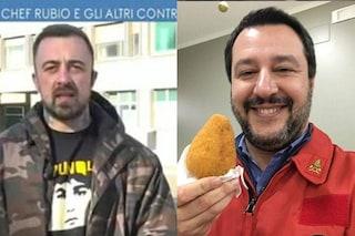 """Chef Rubio contro Matteo Salvini: """"Fa finta di aver lasciato Elisa Isoardi per fare la vittima"""""""