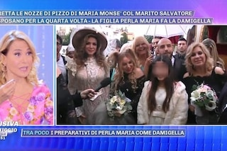 """Le nozze di pizzo di Maria Monsè, Tina Cipollari testimone della """"sposa"""""""