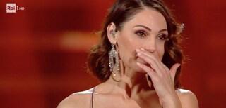 Anna Tatangelo si commuove sul palco del Festival di Sanremo 2019