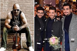 """Il Volo canta col violinista Alessandro Quarta """"Musica che resta"""" alla quarta serata di Sanremo 2019"""