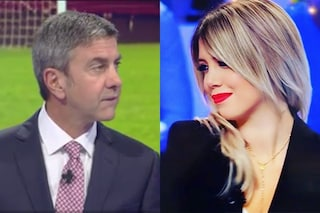 "Alessandro Costacurta aiutato da Ilaria D'Amico chiede scusa a Wanda Nara: ""Una frase infelice"""