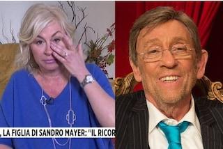 """La figlia di Sandro Mayer in lacrime ricorda il padre: """"Non posso credere che non ci sia più"""""""