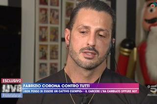 """Live, Fabrizio Corona si scusa con Barbara D'Urso poi confessa: """"Mi manca Asia Argento"""""""