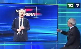 """""""Non è la D'Urso"""", sfottò di Massimo Giletti sul titolo del programma di Canale 5"""