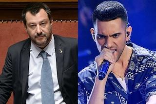 """Mahmood e Matteo Salvini insieme al Maurizio Costanzo Show"""