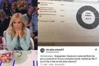 """Rita Dalla Chiesa attacca l'Enel: """"Bollette di 68 euro per 12 di energia!"""""""