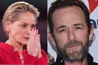 """Malore Luke Perry, l'augurio di Sharon Stone: """"Si può uscire dal buio, io ne sono la prova"""""""