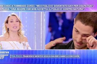 """Tommaso Zorzi in lacrime, Barbara D'Urso: """"La madre che ti accusa rende il figlio infelice"""""""