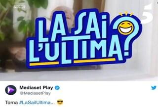 """""""La Sai l'Ultima?"""" torna a giugno su Canale 5, il programma di barzellette in onda al martedì"""