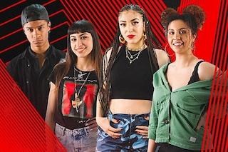 I finalisti di The Voice of Italy 2019: Miriam, Carmen, Brenda e Diablo