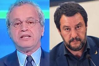 """Enrico Mentana replica a Matteo Salvini: """"Il Tg La7 dice fesserie? Non mi fai paura"""""""