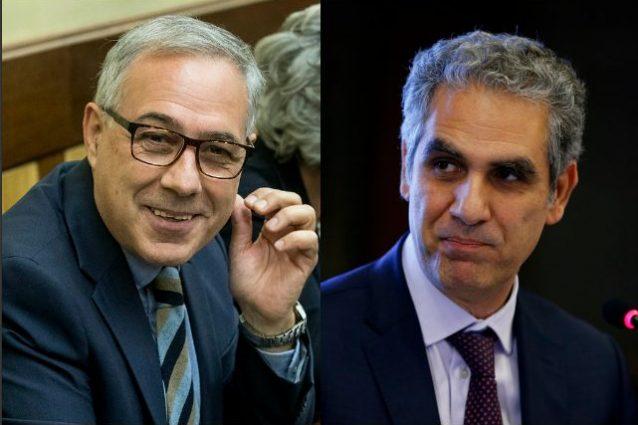 Il membro della commissione di Vigilanza Rai in quota Pd Michele Anzaldi e l'attuale presidente Marcello Foa