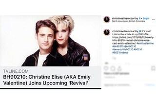 Anche Christine Elise, la Emily Valentine di Beverly Hills 90210, confermata nel reboot della serie