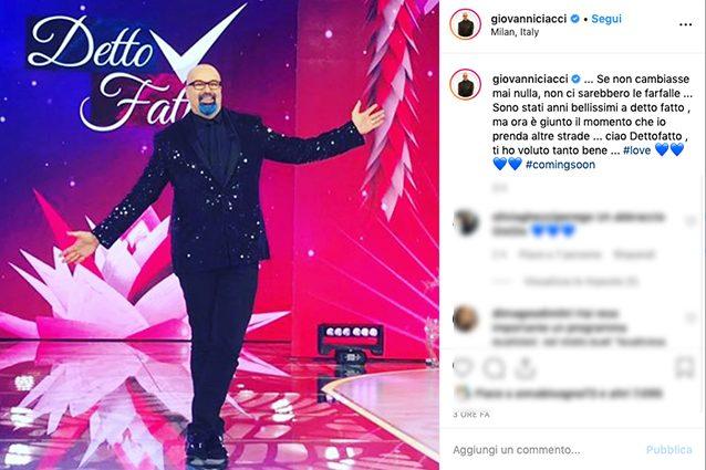Giovanni Ciacci lascia Detto Fatto dopo 6 anni: l'annuncio sui social