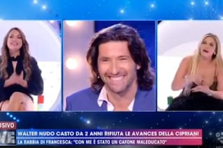 """Francesca Cipriani a Walter Nudo: """"So che è legato a un uomo, è quello con cui passa le giornate"""""""