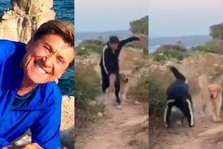 """Gianni Morandi cade rovinosamente mentre gira L'Isola di Pietro 3: """"Incolume!"""""""