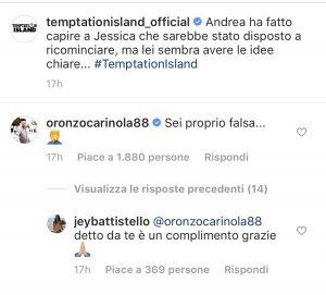 Il botta e risposta tra Oronzo e Jessica