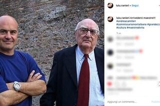 """Morte di Andrea Camilleri, Luisa Ranieri, moglie di Luca Zingaretti: """"Arrivederci Maestro di vita"""""""