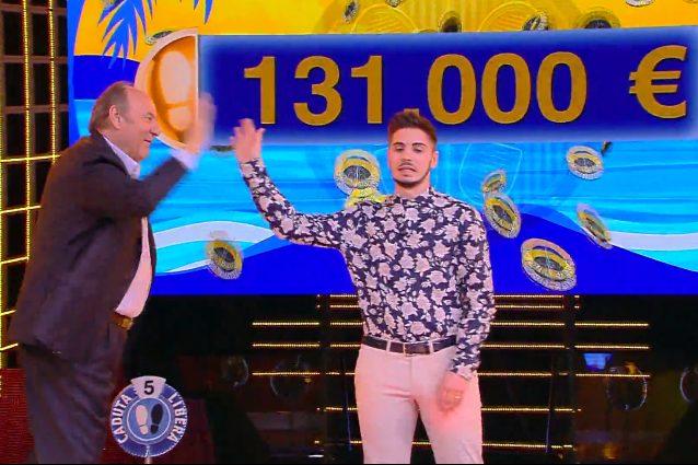 Caduta Libera, il montepremi di Nicolò Scalfi vola a 131mila euro