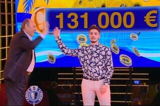 Caduta libera, Nicolò Scalfi vince ancora: 131 mila euro e una vincita complessiva di 641 mila euro