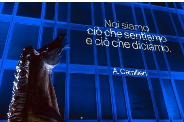 La Rai Omaggia Andrea Camilleri La Facciata Di Viale Mazzini