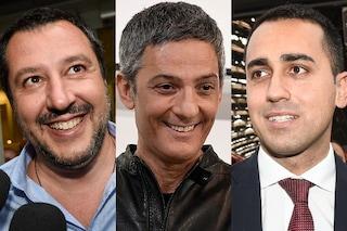 """Fiorello commenta la crisi di governo: """"Matteo Salvini e Luigi Di Maio come il gatto e il topo"""""""