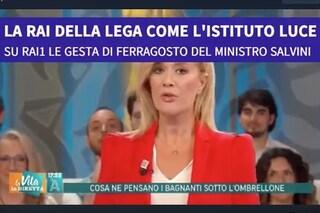 """""""Il Ferragosto a lavoro di Matteo Salvini"""", polemiche sul servizio de La Vita in Diretta Estate"""