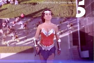 """Barbara D'Urso come Wonder Woman: lo spot della nuova stagione di """"Live - Non è la D'Urso"""""""